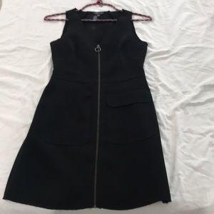 Topshop Black zipper dress size for